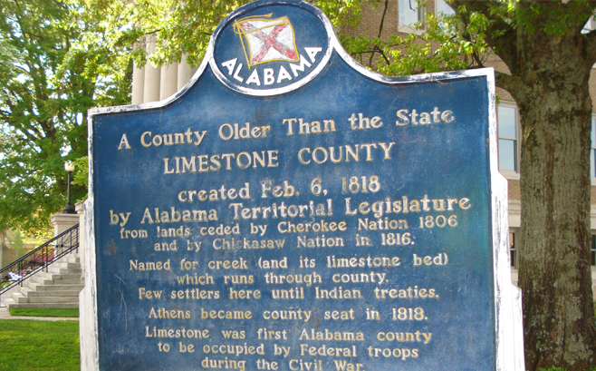 Limestone County established in 1818